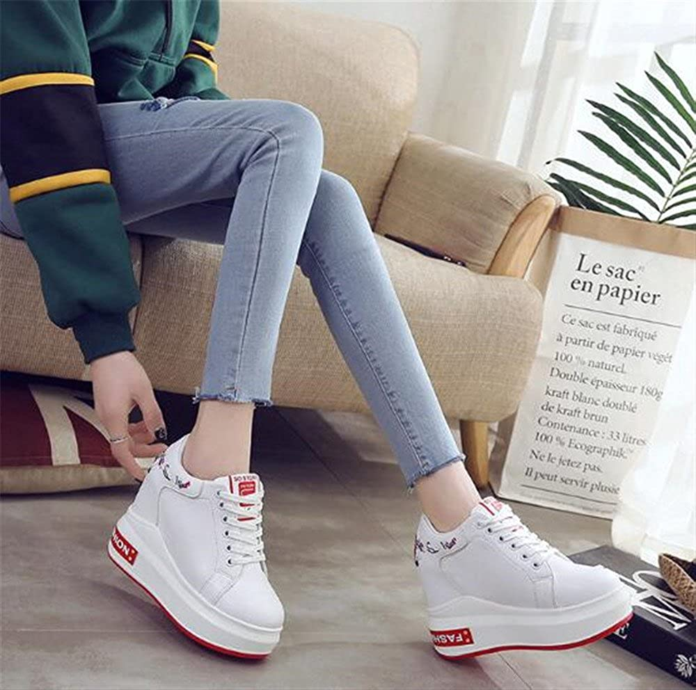 Amazon.com | FUN.S Womens Hi Top Wedge Sneakers Trainers Sport Ankle Boots Leather Fashion Sneakers | Ankle & Bootie