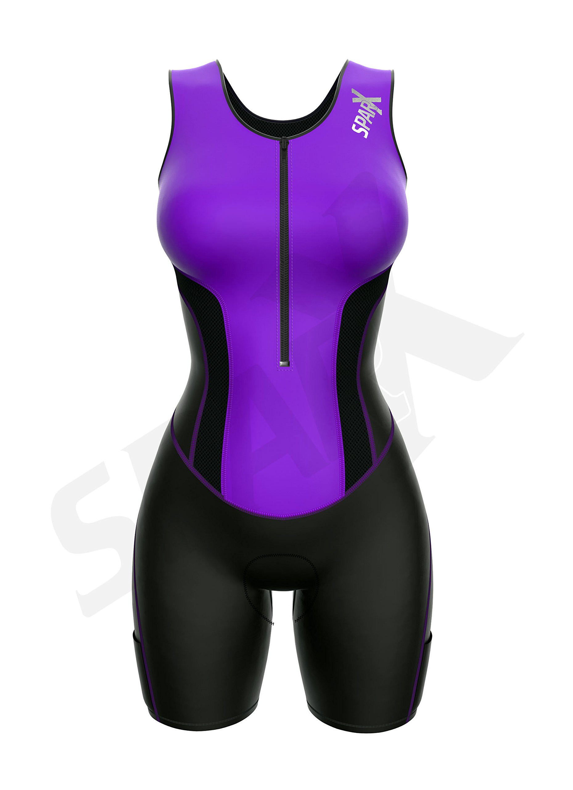 Sparx Women Triathlon Suit Tri Short Racing Cycling Swim Run (Small, Purple) by Sparx Sports (Image #3)