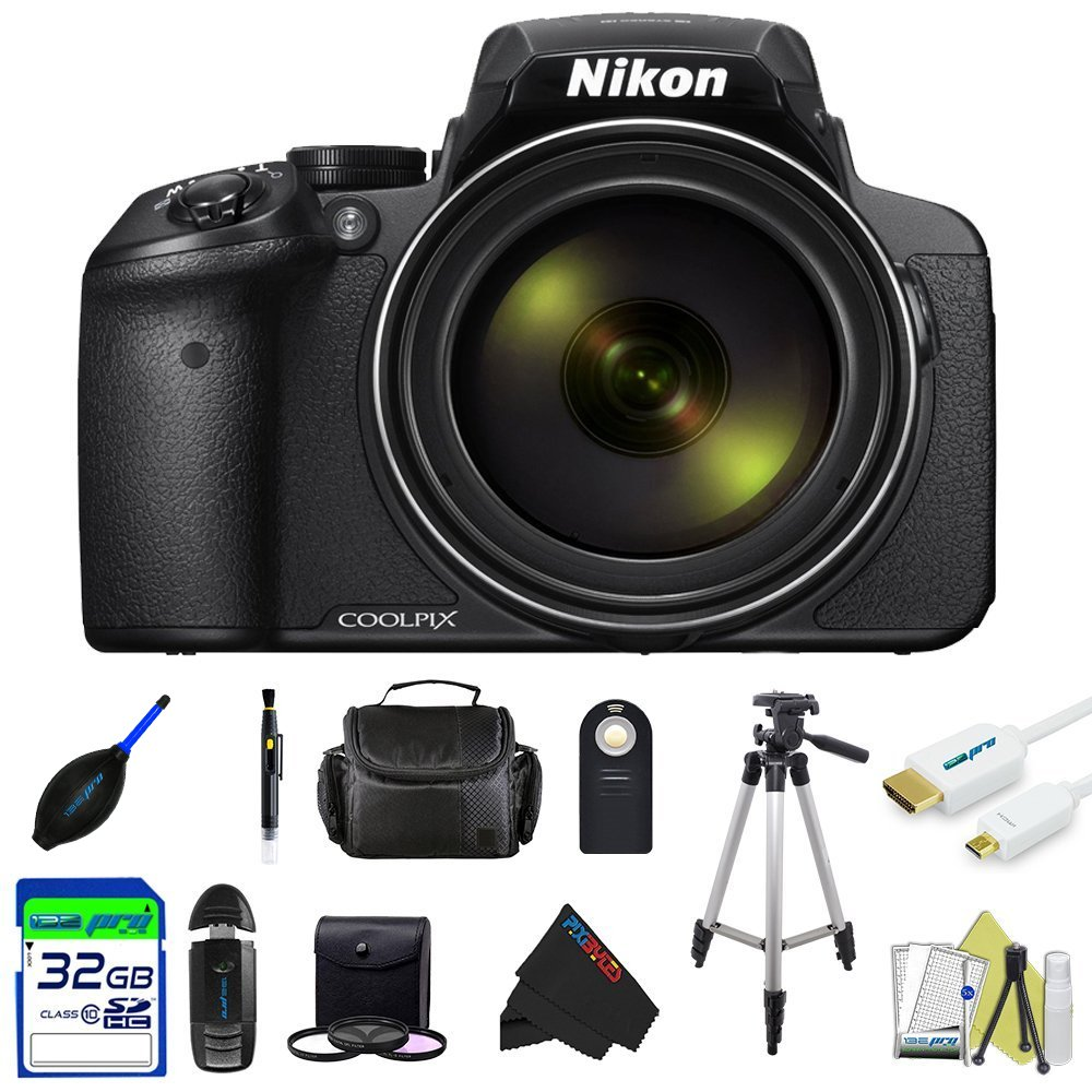 Nikon COOLPIX P900 Digital Camera with 83x Optical Zoom and Built-in Wi-Fi (Black) by PixiBytes