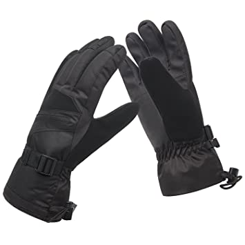 Womens Winter Waterproof Ski Gloves The Warmest 3M Insulation Outdoor  Windproof Snowboarding Mittens Black