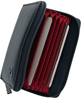 1f6791eb4b3 Unisex Quality Leather Concertina Credit Card Holder With RFID Protection  In 6 Colours