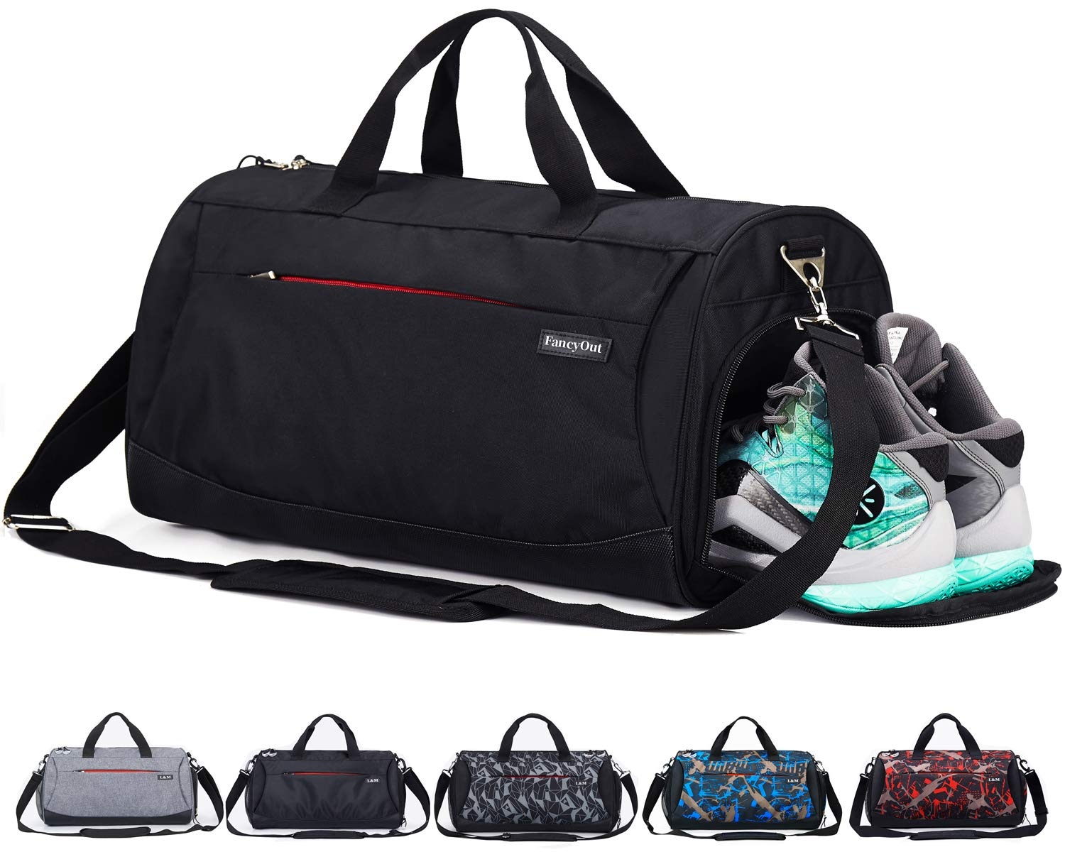 5c163eee8503 CoCoMall Sports Gym Bag with Shoes Compartment and Wet Pocket ...