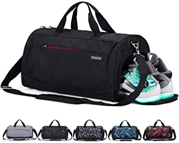de7b8ec23b9172 CoCoMall Sports Gym Bag with Shoes Compartment and Wet Pocket, Travel Duffle  Bag for Men