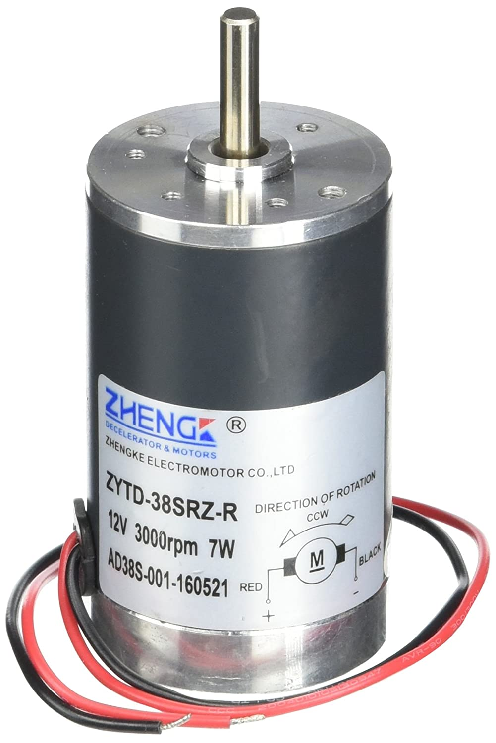 Motore elettrico brushed 300G.cm DC 12V 0.58A 3000RPM Sourcingmap a11110700ux0357