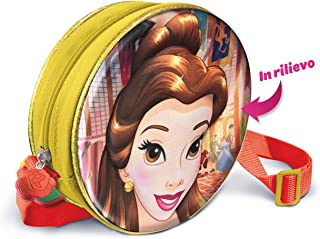 Belle - Disney Princess - Borsetta con personaggio in rilievo