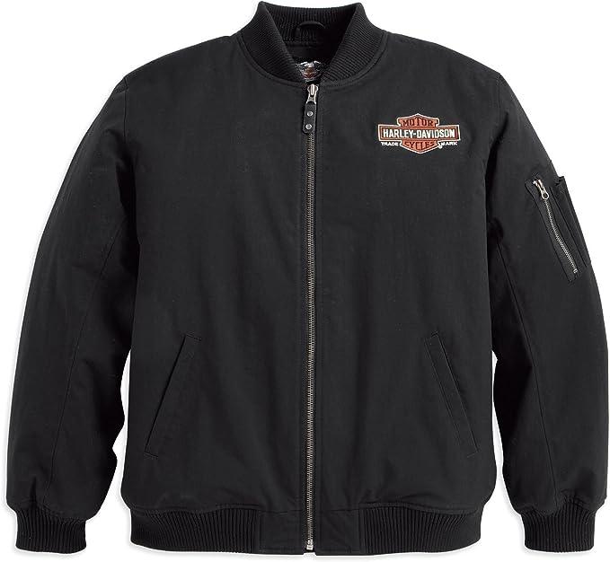 Harley Davidson Bomberjacke Oil 98512 12vm Herren Outerwear Schwarz Xxxl Bekleidung