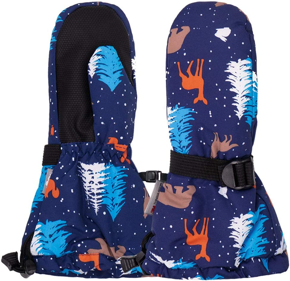 XS: 0-2Y, Black Jan /& Jul Waterproof Stay-on Winter Snow and Ski Mittens Fleece-Lined for Baby Toddler Kids Chidren Unisex