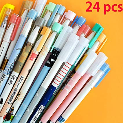 0c2679feb Image Unavailable. Image not available for. Color: Gel Ink Rollerball Pens  Black Pens Cute ...