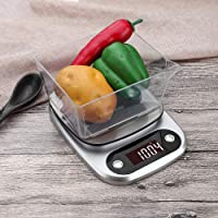 Lixada Kitchen Scale Digital Kitchen Scale Food Scale 3kg/0.1g Multifunction Weight Scale High Accuracy Tare Weight…
