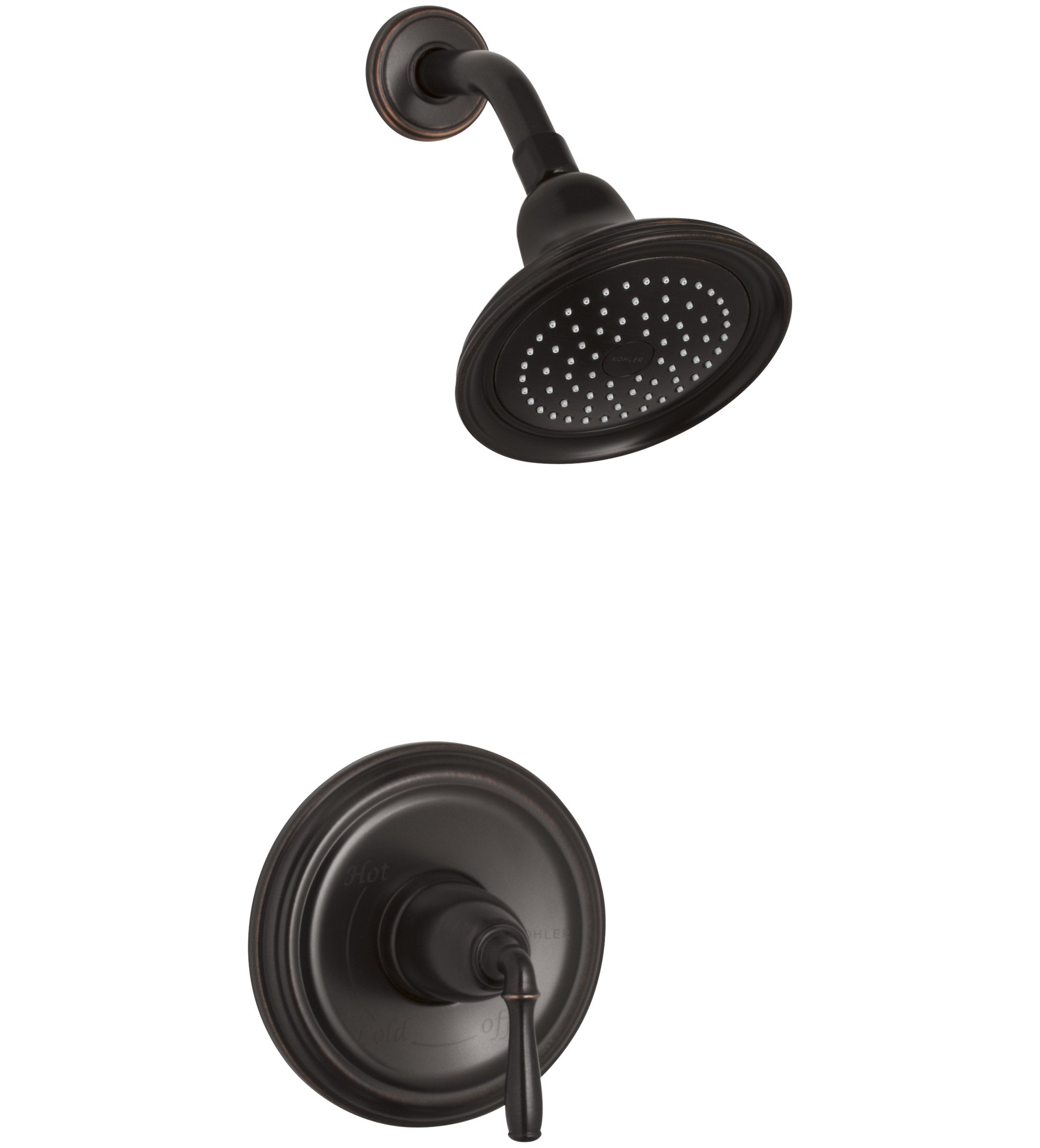 KOHLER TS396-4-2BZ Devonshire(R) Rite-Temp(R) shower valve trim with lever handle and 2.5 gpm showerhead, 1