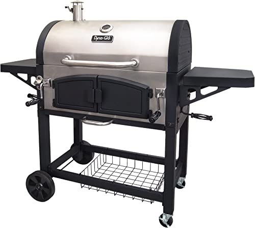 Dyna-Glo-DGN576SNC-D-Dual-Zone-Premium-Charcoal-Grill,-X-Large