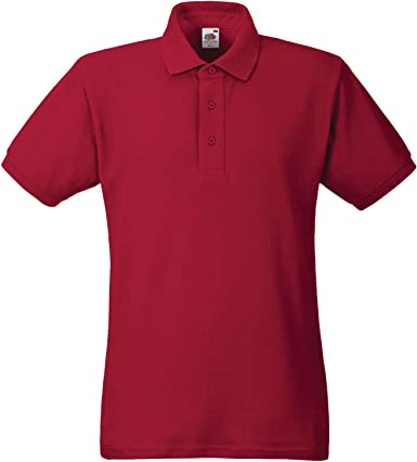 Fruit of the Loom - Polo - para Hombre Rojo Rosso XXXL: Amazon.es ...