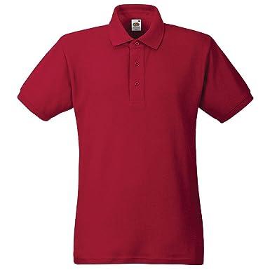 Fruit of the Loom - Polo - para Hombre Rojo Rosso XXXL: Amazon.es ...
