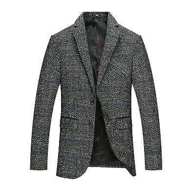 Veste Blazer Manteau Slim Fit Sport Casual Homme Printemps Automne Hiver Jacket  Costume Mariage Elegant Bouton 1fcad487001
