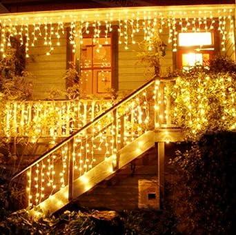 Weihnachtsbeleuchtung Außen Zug.216 Led 5m Eisregen Eiszapfen Lichter Led Lichtervorhang Lichter Weihnachtsdeko Weihnachtsbeleuchtung Deko Christmas Innen Und Aussen Led String