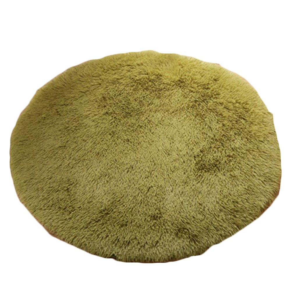 Busirde Soft Área Shaggy Alfombra Redonda Sala de alfombras Piso Dormitorio Alfombra de la Estera Pasto Verde 0.4m: Amazon.es: Hogar