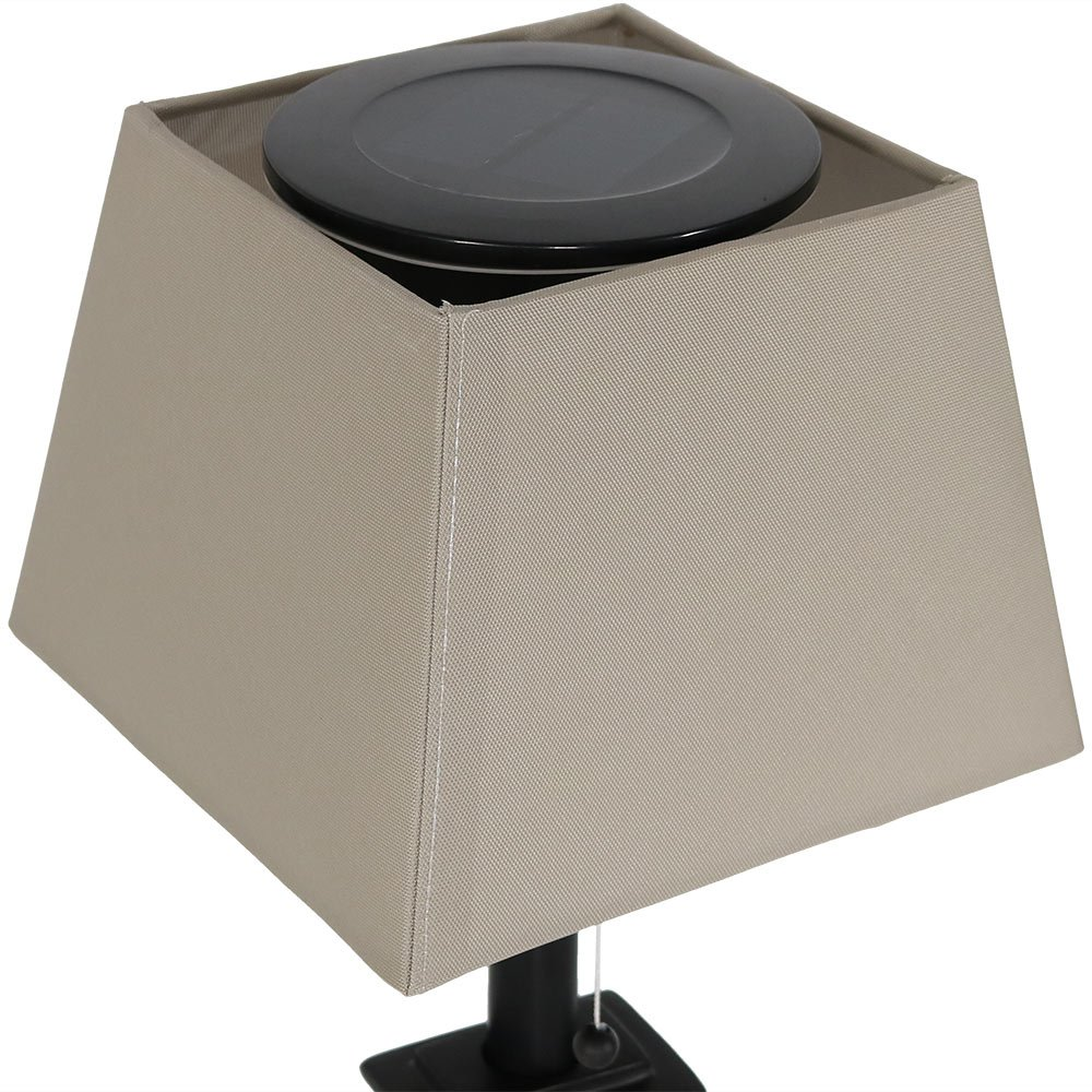Sunnydaze Outdoor Solar Table Lamp, Contemporary Square Slate, Weather Resistant and Cordless, 16 Inch by Sunnydaze Decor (Image #4)