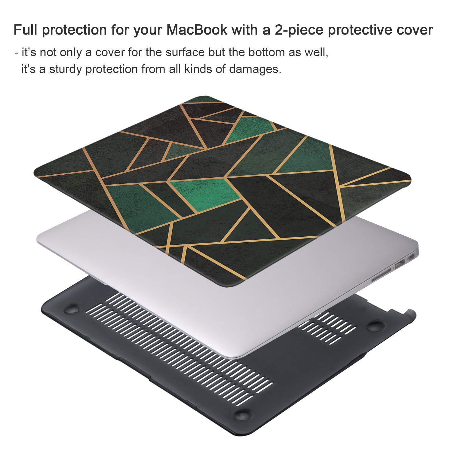 Gray Marble MacBook Air 13 inch Case Release 2010-2017 Older Version iCasso Hard Shell Plastic Protective Case /& Keyboard Cover Only Compatible MacBook Air 13 Inch Model A1369//A1466