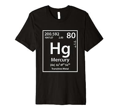 Amazon Mercury Periodic Table Of Elements T Shirt Clothing