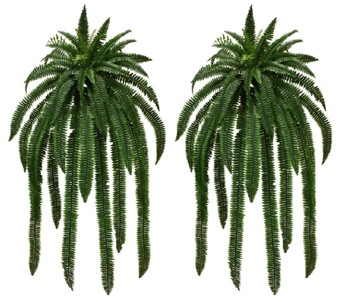 Two 60'' Boston Fern Bush Artificial Silk Plants Fake tree Decor Palm flower 465