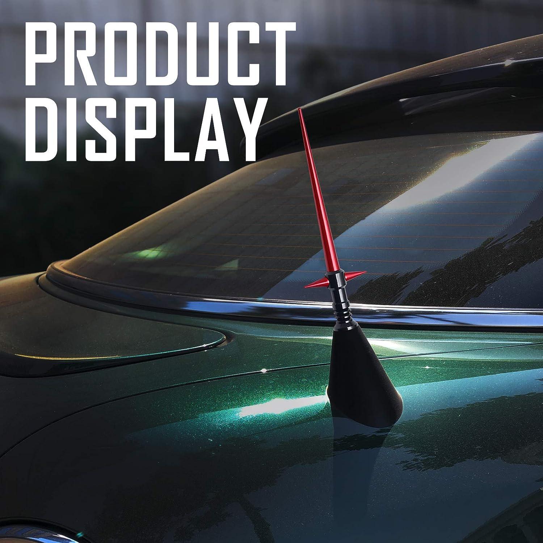 Elitezip Replacement Antenna for Dodge RAM Trucks 1994-2018 Optimized AM//FM Reception with Tough Material 2 Inches Carbon/Black