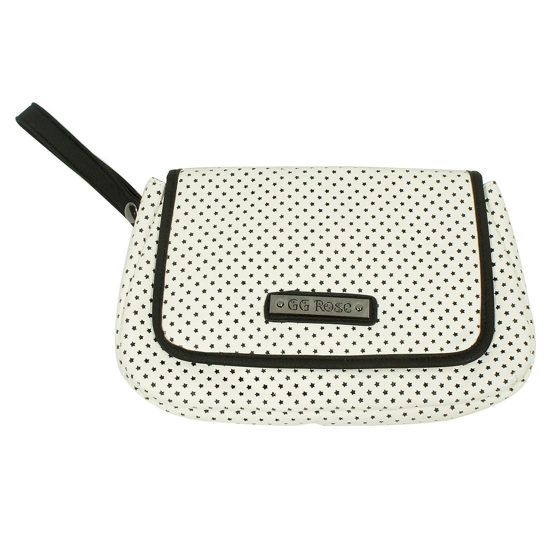 Amazon.com: GG Rosa perforado Star Embrague Color Blanco ...
