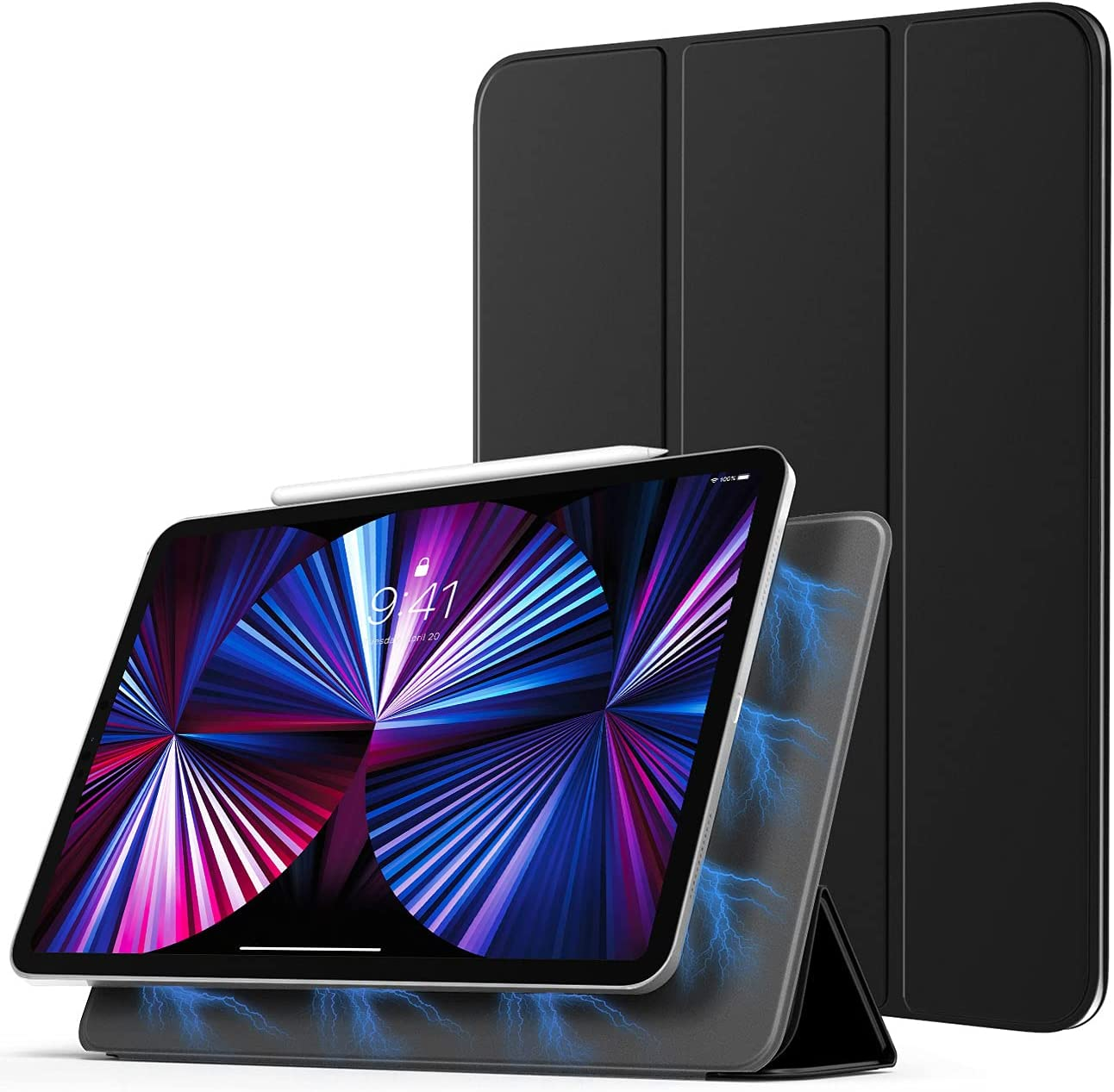 TiMOVO Case for New iPad Pro 11 inch 2021 (3rd Gen), [Support 2nd Gen APPLE Pencil Charging] Strong Magnetic Trifold Stand Case & Auto Wake/Sleep fit iPad Pro 11