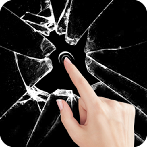 Broken Screen Wallpaper: Amazon.com: Cracked Screen Broken Glass Wallpaper Prank