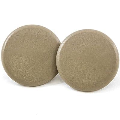 2 Rear Armrest Cover Caps Cashmere Tan 2007-2014 Compatible with GM Trucks & SUVs Arm Rest Snap: Automotive