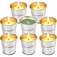 LucaSng Citronella Candles Outdoor Indoor, 2 OZ x 8 Pack Scented Candles Set Bulk Made with Lemongrass Essential Oil…