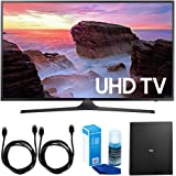 """Samsung UN40MU6300 40"""" 4K Ultra HD Smart LED TV + Cut the Cord Wireless Tuner Bundle includes TV, Terk Indoor Flat 4K HDTV Multi-Directional Antenna, 6ft HDMI Cable x 2 and Screen Cleaner"""