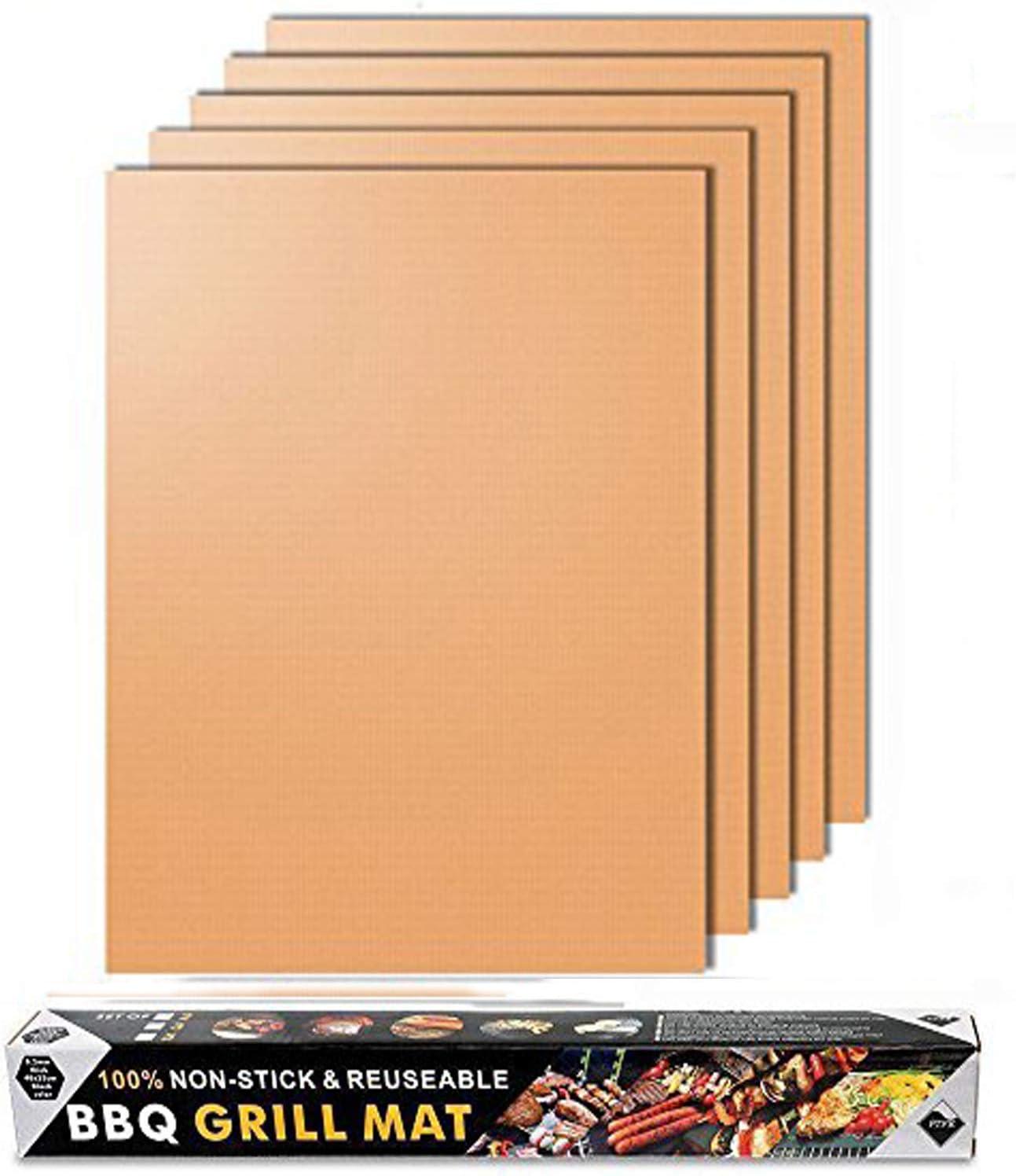 40 30 cm Wiederverwendbar Und Leicht Zu Reinigen Hitzebest/ändige Grillplatte Antihaft-Grillmatte Supertop Goldene Grillmatte