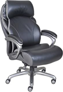 office black. Serta Big And Tall Smart Layers Tranquility Executive Office Chair With AIR Technology Black