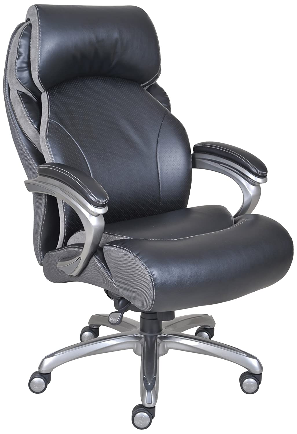 amazoncom serta big and tall smart layers tranquility executive office chair with air technology black kitchen dining big office chairs executive office chairs
