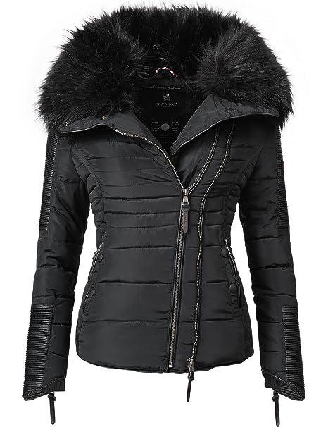 5e8a76481b058 Navahoo Yuki2 Chaqueta de Invierno para Mujer con Capucha de Pelo sintético  Negro 8 Colores XS-XXL  Amazon.es  Ropa y accesorios