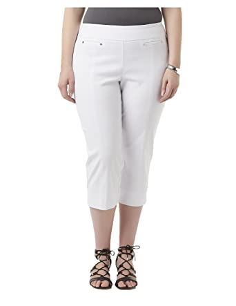 1e02f6cec150c Image Unavailable. Image not available for. Color  SIMPLY EMMA Women s Plus  Stretch Capri Pants.