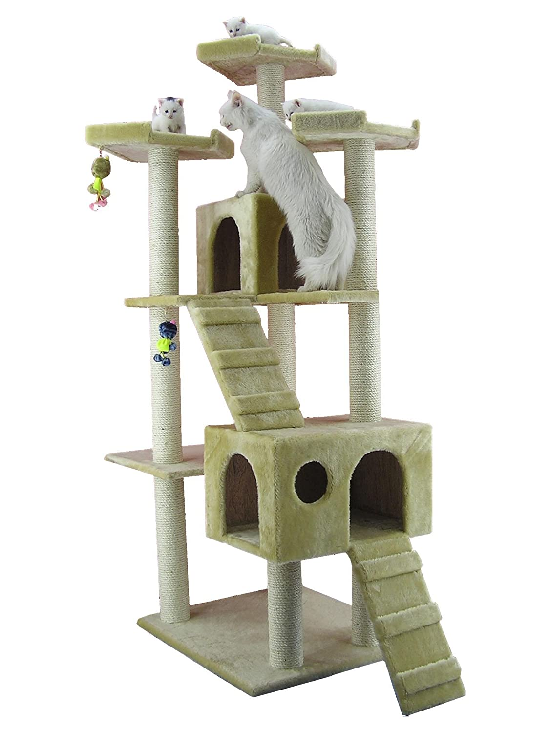 amazoncom  cat tree beige  cat tower  pet supplies -