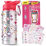 Beewarm Gift for Girls, Decorate & Personalize Your Own Water Bottles with Tons of Rhinestone Glitter Gem Stickers, Reusable