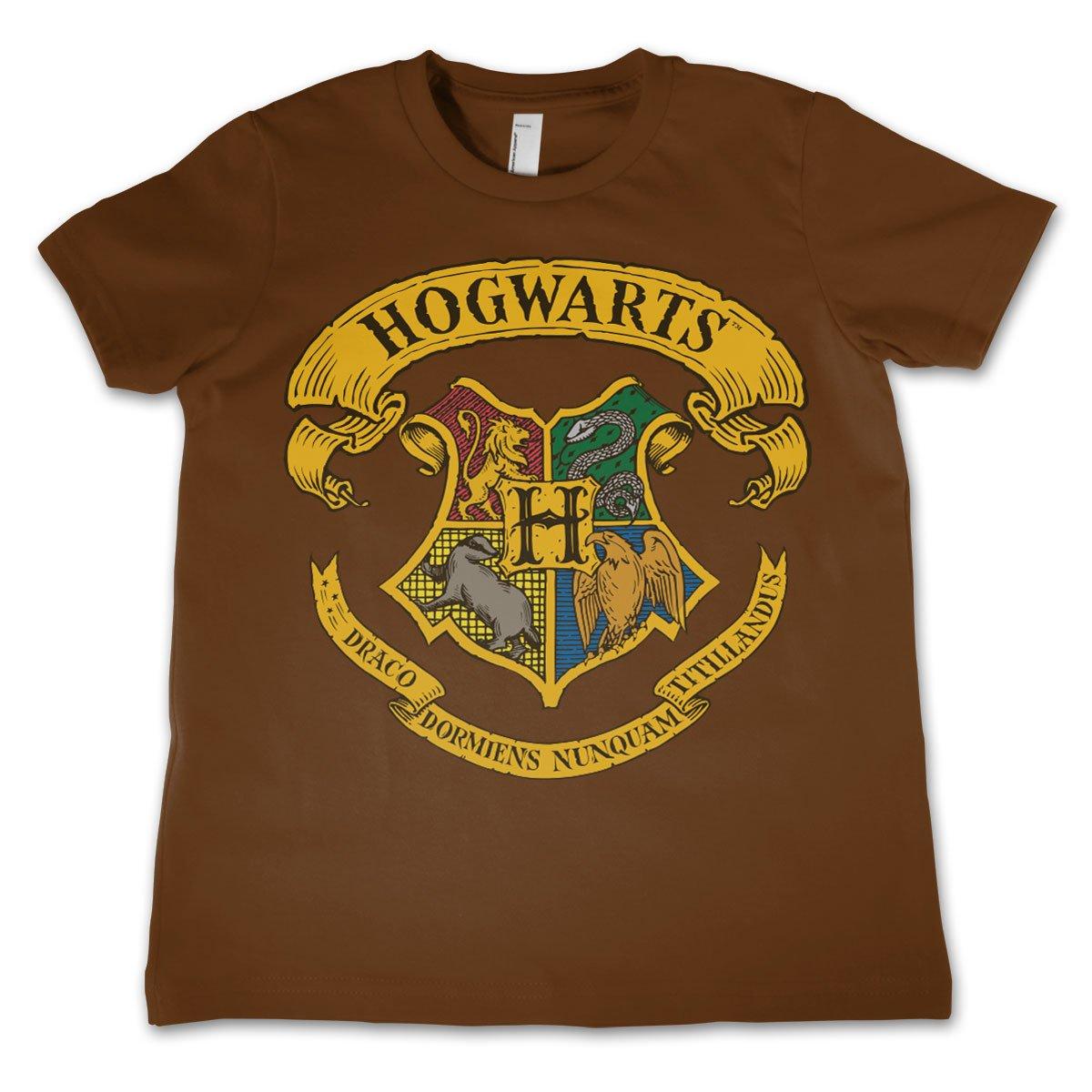HARRY POTTER Oficialmente Licenciado Hogwarts Crest Unisexo Ni/ños Camiseta Siglos 3-12 A/ños