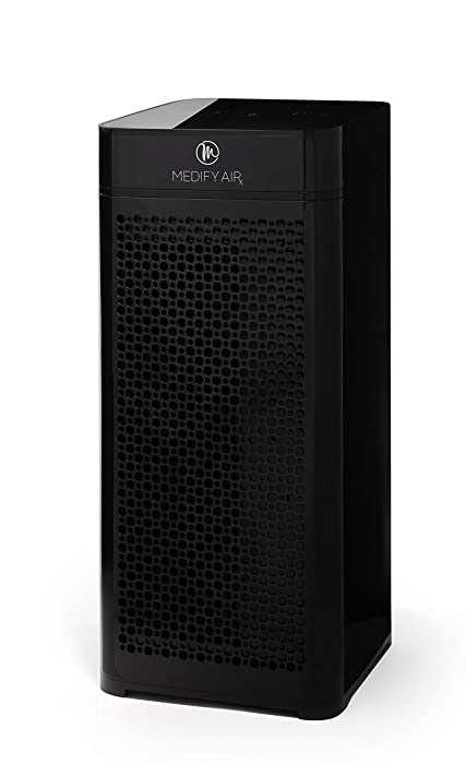 Medify MA-40 Medical Grade Filtration H13 True HEPA for 800 Sq. Ft. Air Purifier, 99.97% Removal with Particle Sensor and Modern Design - Black