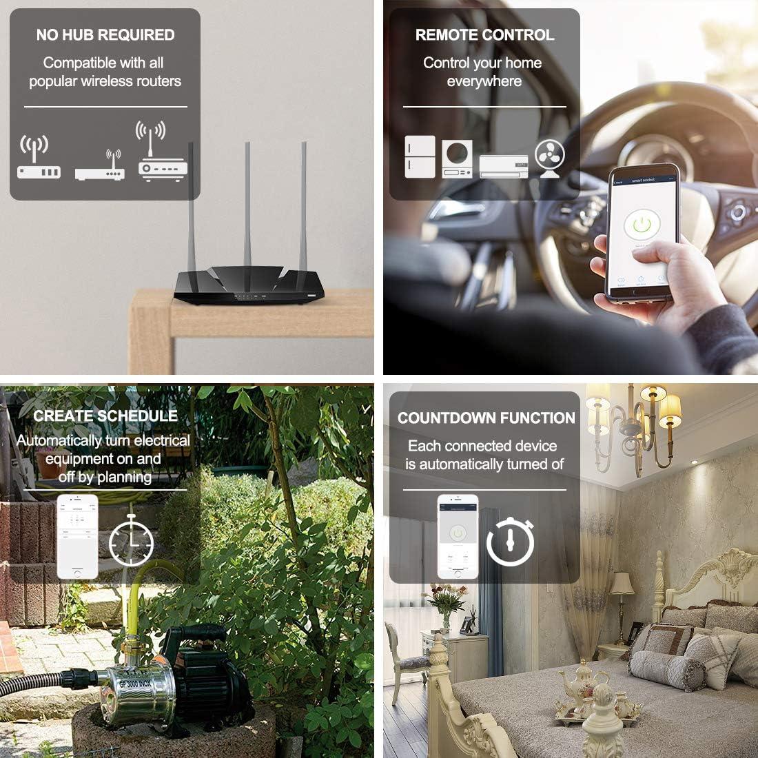LoraTap 2 Piezas Interruptor WiFi Inteligente Módulo de Interruptor Inalámbrico Temporizador Control Remoto por App iOS o Android, Compatible con Alexa Echo, Google Home e IFTTT, 10A/2500W: Amazon.es: Bricolaje y herramientas