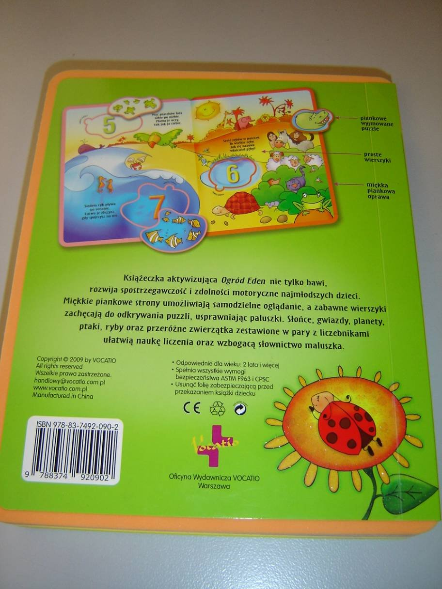 The Garden Of Eden Polish Language Childrens Bible With