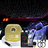AKEPO 16W RGBW Twinkle Fiber Optic Lights Music + APP Control Star Ceiling Light Kit for Car & Home, RGBW LED Light Engine Dr