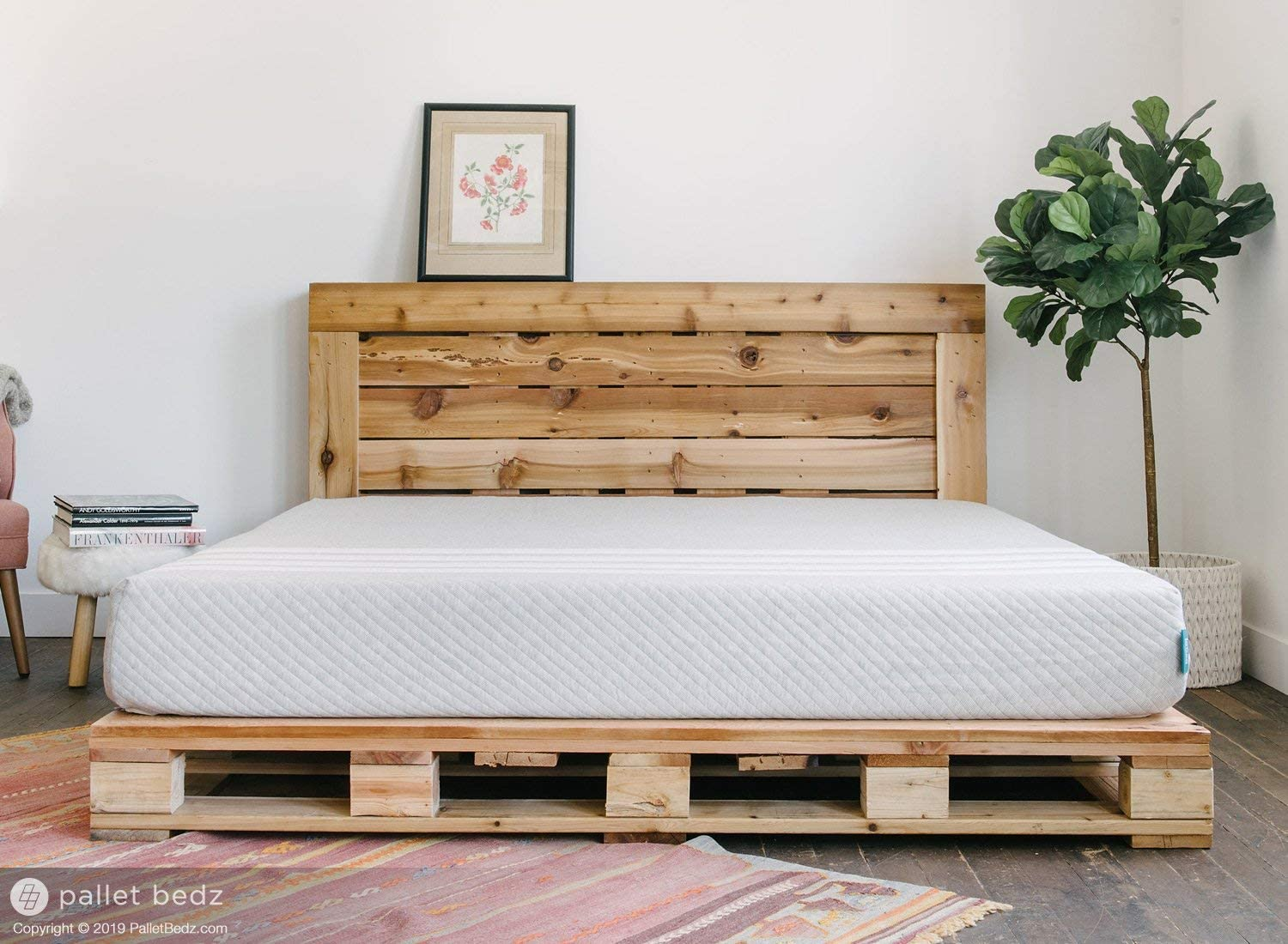 Wonderbaar Amazon.com: King Size Pallet Bed for The Modern and Natural Home NW-97