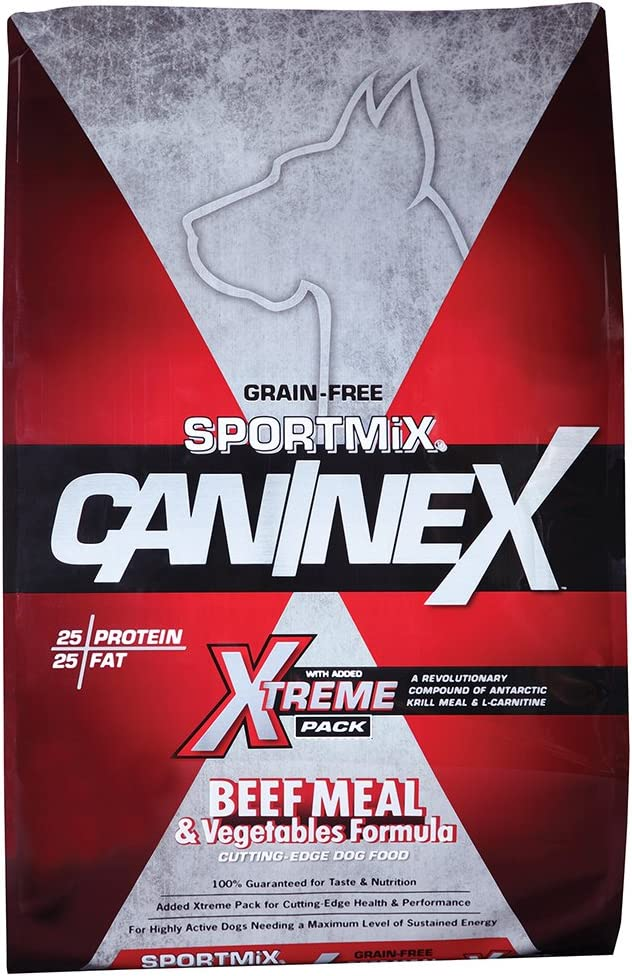 Sportmix Caninex Beef Meal And Vegetables Grain Free Dry Dog Food, 40 Lb.