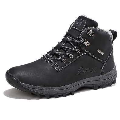 46354fa2622c19 Sixspace Herren Stiefelette Schneestiefel Winterstiefel Warm Gefütterte  Winterschuhe Outdoor Boots