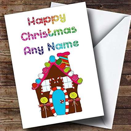 Amazon candy sweet house personalized christmas holiday candy sweet house personalized christmas holiday greetings card m4hsunfo
