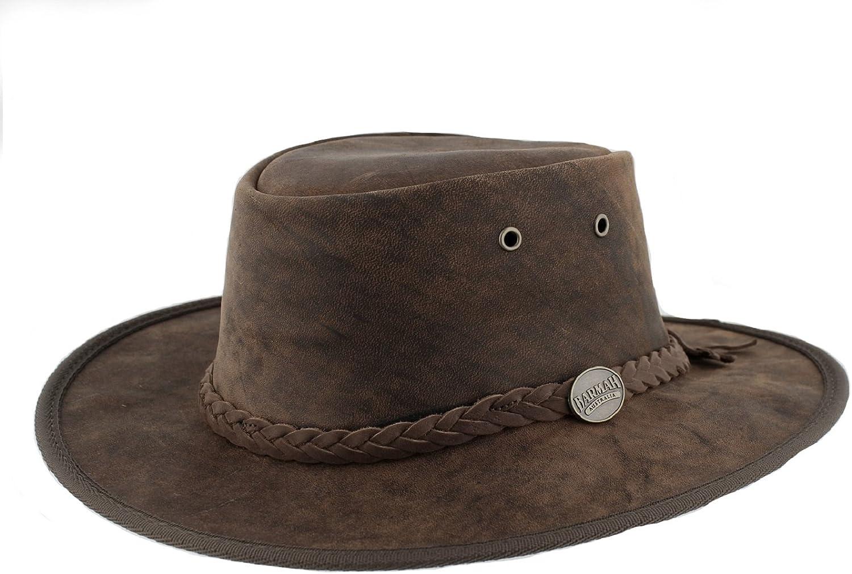 Barmah 1060 Bronco - Sombrero plegable de piel, ligero y resistente al agua, diseño de estilo australiano