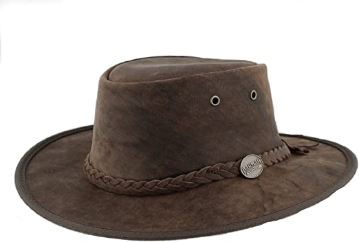 Barmah Bronco Foldaway 1060 Brown Leather Australian Bush Hat