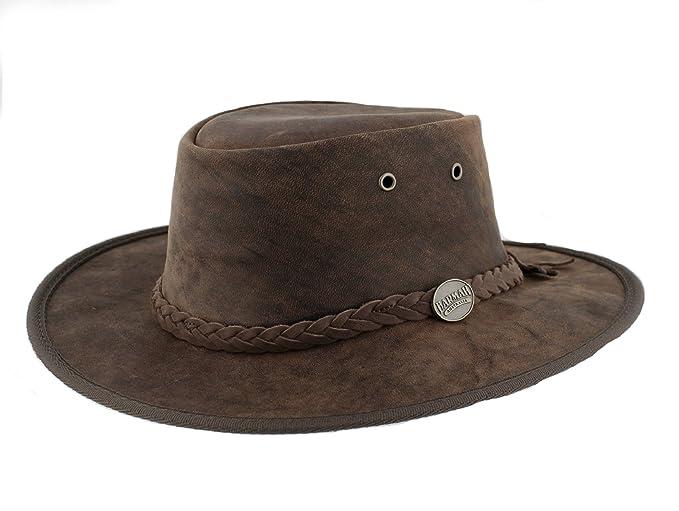 Barmah 1060 Bronco - Sombrero plegable de piel 88b9ead874c